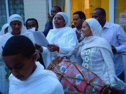 Community singing, St Michael's