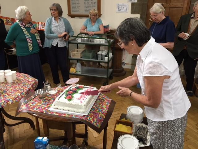Community choir member's birthday celebration