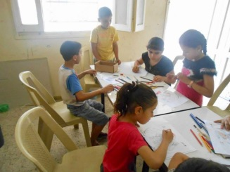 Children at play in the Never Stop Dreaming play and learn centre, one of four projects in Gaza, for which Sheffield PSC helps to raise funds